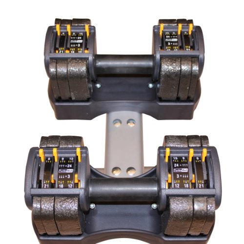 Performance Fitness Systems Adjustable Dumbbells with Stand - 3-24 lbs. by PFS (Image #3)
