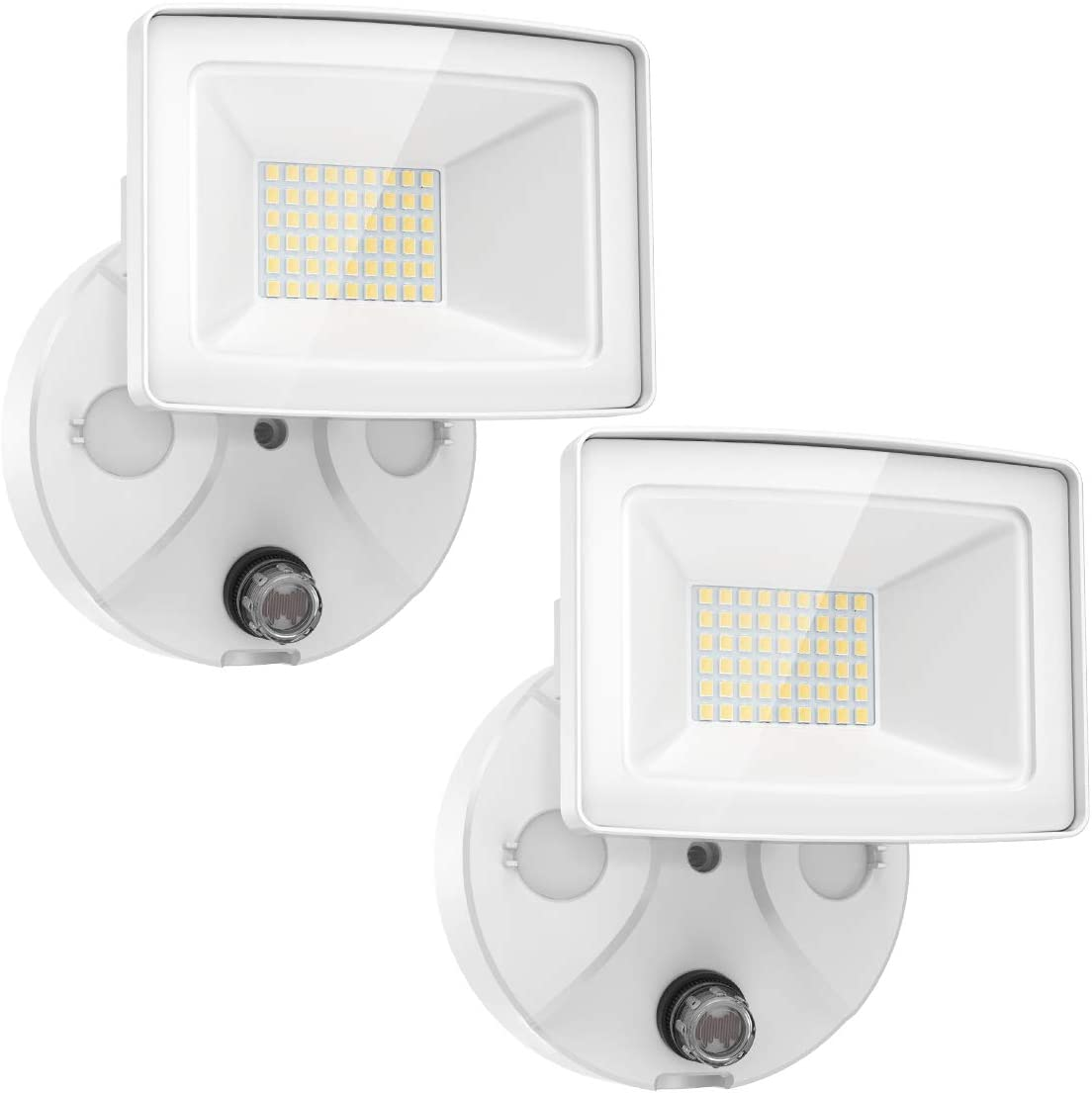 Onforu 2 Pack 30W Dusk to Dawn LED Security Lights, 3000lm Outdoor Flood Lights, IP65 Waterproof Exterior Floodlights with Photocell 5000K Daylight White for Garage, Patio, Garden, Yard, Barn