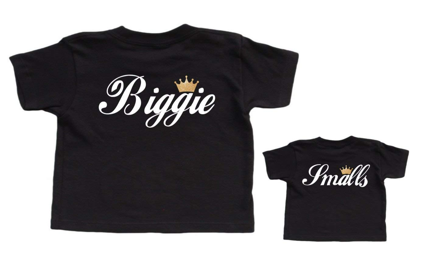 New Dad Gift Christmas Gift From Baby Biggie Smalls Daddy and Baby Matching Set Shirts Outfits