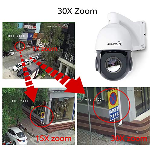 Eyes sys 5MP PTZ Middle Dome Camera PoE 30x H 265 Zoom IP Auto Focus  Outdoor Video Surveillance IR Distance Onvif XMEYE