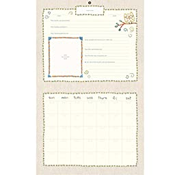 C.R. Gibson Baby\'s First Year Calendar, By Cathy Heck Stickers Provided, Measures 11 x 18\