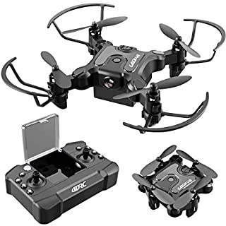 4DRC V2 Mini Drone for Kids Beginners,RC Foldable Nano Drone Pocket Quadcopter for Boys and Grils Toys with Altitude Hold, Headless Mode, 3D Flips, One Key Return and Speed Adjustment and 3 Batteries