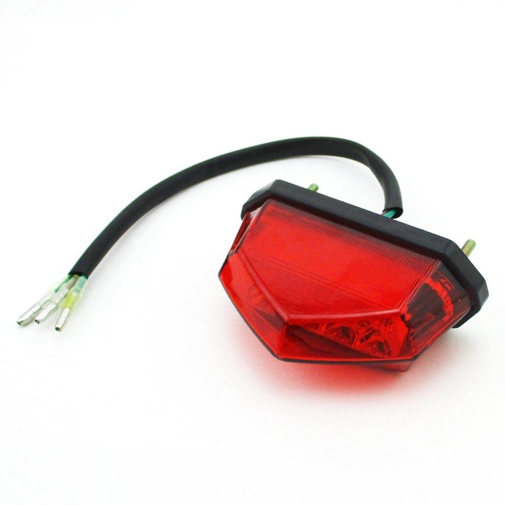 Stoneder Rouge ATV 12/V LED Queue de frein arri/ère lumi/ère pour 50/cc 70/cc 90/cc 110/cc chinois 4/Wheeler Quad Roketa Kazuma Sunl Taotao