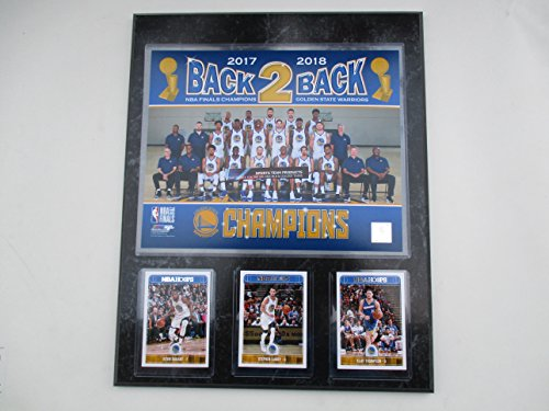 - GOLDEN STATE WARRIORS 2018 CHAMPIONSHIP BACK 2 BACK TEAM PHOTO PLUS 3 CARDS MOUNTED ON A 12