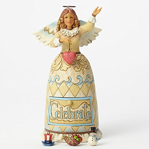 Jim Shore Heartwood Creek Holiday Celebration Angel Figurine 5 Piece Set 4044670