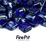 Deep Sea Blue - Fire Glass Cubes for Indoor and Outdoor Fire Pits or Fireplaces | 10 Pounds | 1 Inch