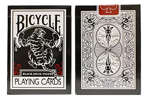 Bicycle Black Tiger Red Playing Cards Black Tiger Playing Cards