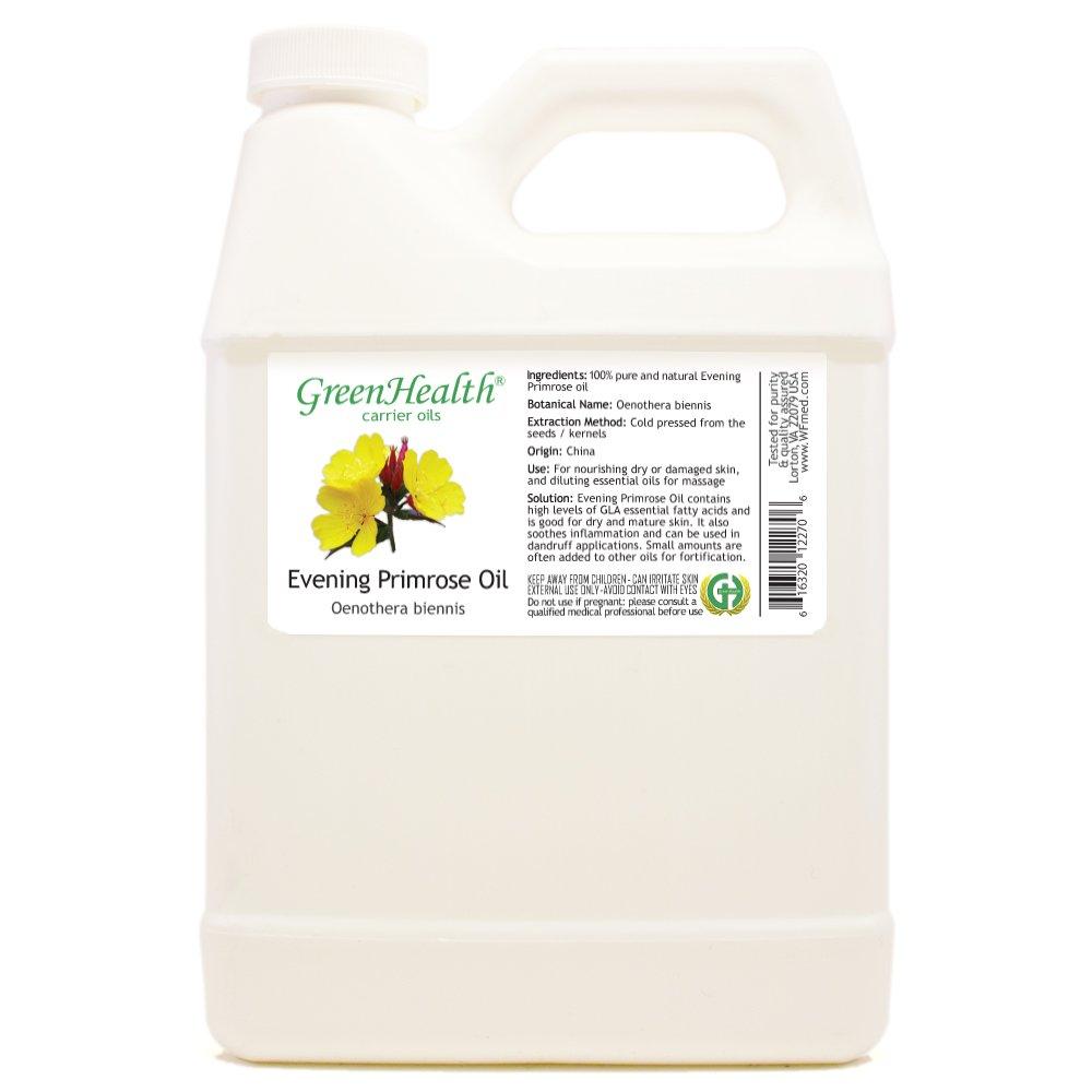 GreenHealth Evening Primrose Oil - 32 fl oz (946 ml) - 100% Pure Cold Pressed