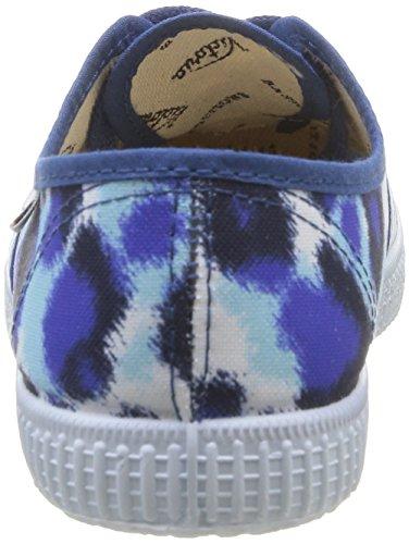Victoria Huella Mujer deporte Azul Zapatillas de azul Tigre Bleu Inglesa Estamp rWafCr