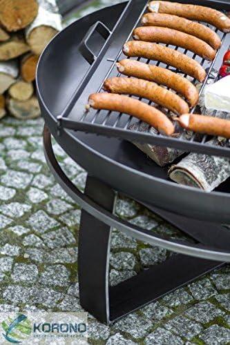 Lager stilvolle Beleuchtung Korono 2 in 1 Feuerschale 60cm /& Grill 44x44cm mobiler Grill