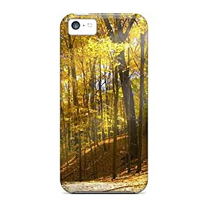 MMZ DIY PHONE CASEPremium Iphone 5c Case - Protective Skin - High Quality For Sunlight In An Autumn Forest