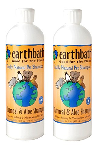 Earthbath 84002-2 All Natural Shampoo (2 Pack), 16 - Dog Oatmeal Shampoo