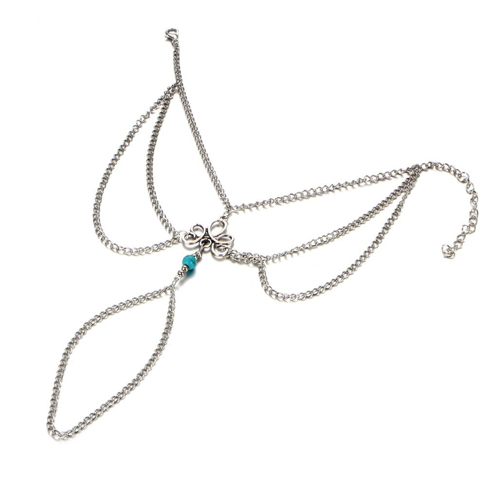 PORPI-JOJO 3PCS Beach Anklet Chain Bracelet Barefoot Sandals Foot Jewelry Mothers Day Chengmen ANK-C1044
