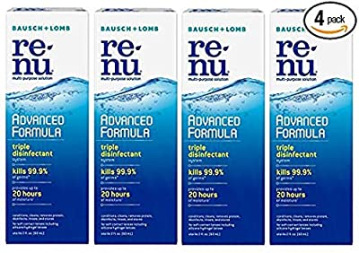 Renu Fresh Multi-Purpose Contact Lens Solution 2 oz Travel Size (Pack of 4)