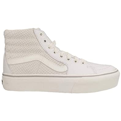 fd6feb6c6e Vans Unisex Sk8-Hi Platform 2 Leather Snake White Trainers 5.5 W   4 M