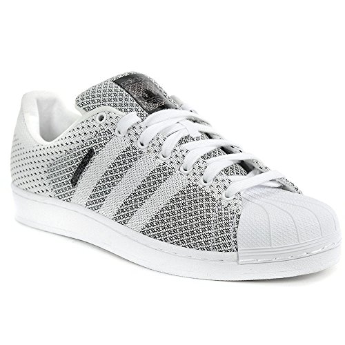 adidas Originals Men's Superstar Skate Shoe (10, Weave/Black/White)