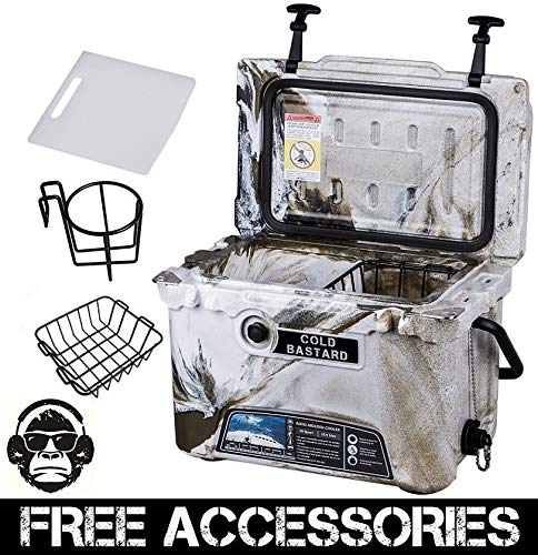 20QT CAMO DESERT GREEN COLD BASTARD Rugged Series ICE CHEST COOLER Free Accessories YETI Quality Free S&H (Baskets Cb Series)