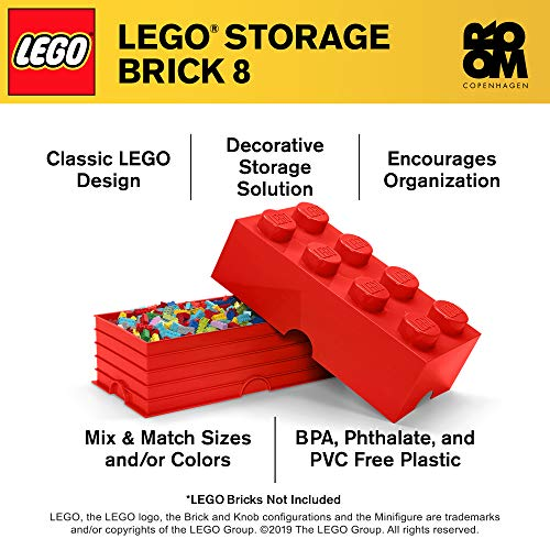 Room Copenhagen 8 LEGO Brick Box, Bright Red