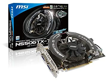 MSI N550GTX-TI CYCLONEOC GeForce GTX 550 Ti 1GB GDDR5 ...