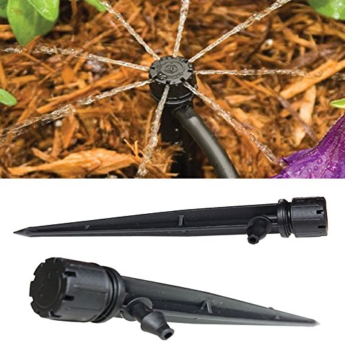 Axe Sickle (Pack of 50) Drip Emitters Perfect for 4mm/7mm Tube, Adjustable 360 Degree Water Flow Drip Irrigation System for flower beds, vegetable gardens, herbs gardens.