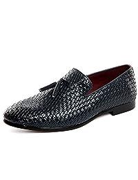 REETENE Serpentine Pattern Men's Shoes Fashion Dress Shoes for Men