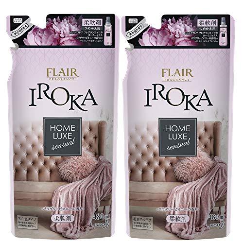 플레어 향수 섬유유연제 IROKA(이로카) HomeLuxe(홈룩스) 파우더리 피오니의 향기 리필용 480ml / 480ml×2개