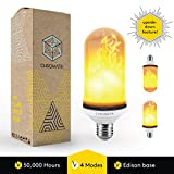 [UPGRADED] LED Flame Effect Light Bulb, Upside Down Flickering LED Flame Bulb, E26 Edison Base, Decorative Flame Light Bulbs for Indoor Outdoor Vintage Atmosphere Lighting, Holiday Party, Home Decor