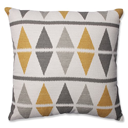 Pillow Perfect Ikat Argyle Throw Pillow, 18-Inch, Birch