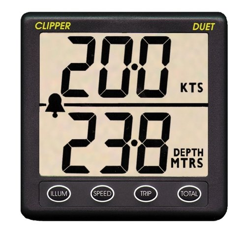 Clipper Duet Instrument Depth Speed Log with Transducers ()
