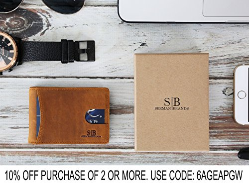 21157768868 REVIEW - SERMAN BRANDS RFID Leather Money Clip 1.0 - Travel Wallet ...