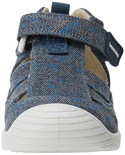 Biomecanics Baby Jungen 182126 Niedrige Hausschuhe Marineblau/gepunktet Jeans (bedrucktes Segeltuch)