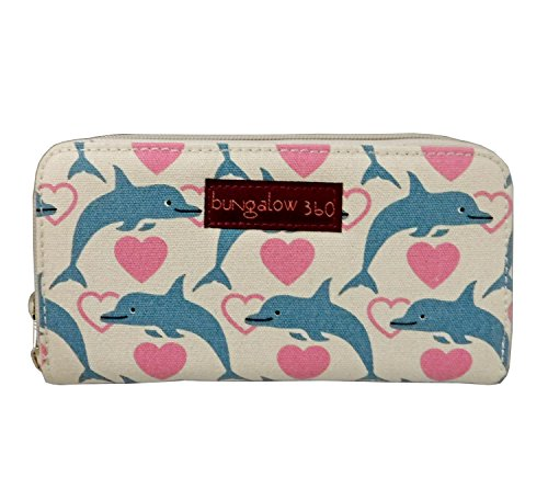 Bungalow 360 Zip Around Wallet (Dolphin)