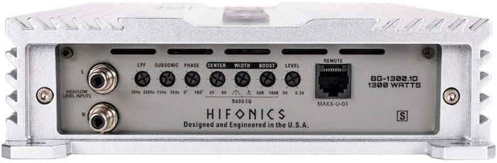 Hifonics BG-1300.1D Brutus Gamma Monoblock Super D Class 1300 Watt Car Audio Sound System Subwoofer Speaker Amp Amplifier