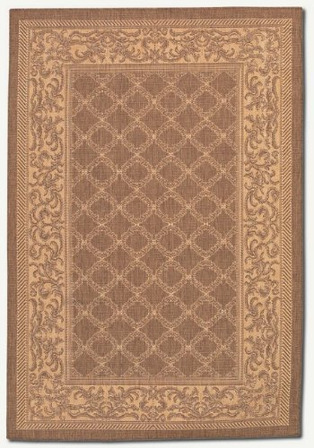 Couristan Cocoa Garden Lattice (Couristan 1016/3000 Recife Garden Lattice Cocoa/Natural Runner Rug, 2-Feet 3-Inch by 11-Feet 9-Inch)