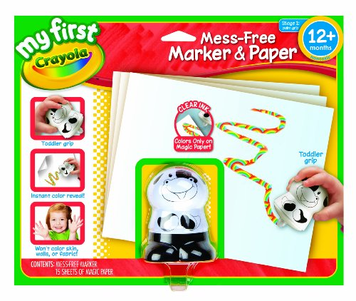 Crayola My First Mess Free Coloring, No Mess Marker and Paper Set, Gift for Toddlers