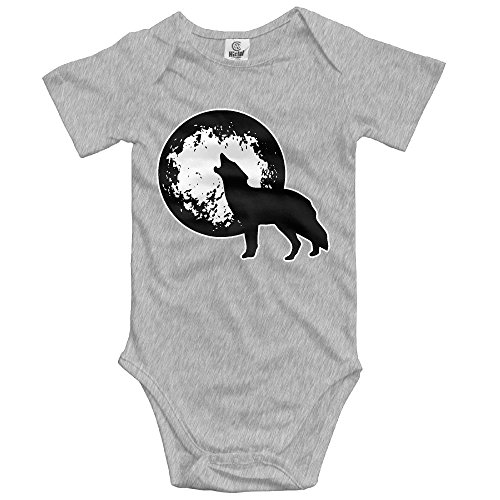 KunYBC 221 Baby Onesies Wolf Moon Unisex Toddler Bodysuit Summer Short Sleeves Romper Jumpsuits