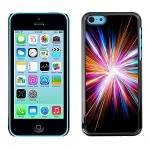 Paccase / SLIM PC / Aliminium Casa Carcasa Funda Case Cover - Disco Light God Electric City Black - Apple Iphone 5C