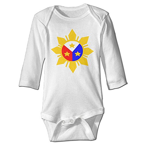 ScotchBlue Philippine Flag Logo Design Autumn Long Sleeve Infant Baby's Toddler Climb Jumpsuit | Crawling - Clothing Cycling Philippines