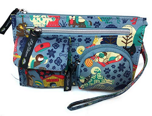 Lily Bloom Who Let the Dogs out Kim Wristlet | 7.5 X 4.5 ()