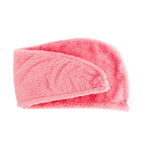 Wrap Glam (Danielle Glam Goddess Hair Drying Turban Towel Wrap, Pink)