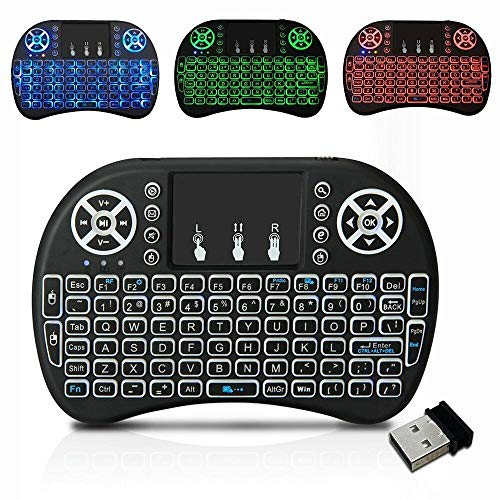 Backlit 2.4G Wireless Touchpad Mini Keyboard for Android TV Box PC Pad