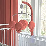Carousel Designs Solid Coral Mobile