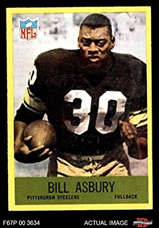 7faeee416ed 1967 Philadelphia   146 Bill Asbury Pittsburgh Steelers (Football Card)  Dean s Cards 7 -