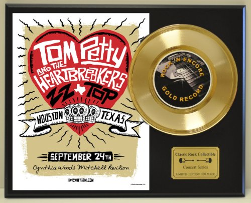 TOM PETTY Limited Edition Gold 45 Record Display. Only 500 made. Limited quanities. FREE US SHIPPING