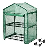 Finether Greenhouse with Clear Cover and Casters