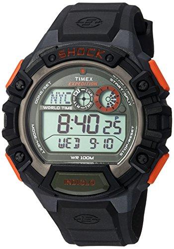 Timex Men's TWH2Z9310 Expedition Global Shock Black/Orange/Green Resin Watch