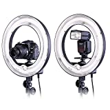 Neewer Camera Photo Video 14'Outer 10'Inner 400W 5500K Photographic Lamp Ring Fluorescent Flash Light