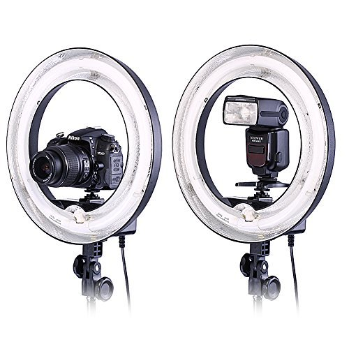 Neewer Camera Photo Video 14 inches/36 centimeters Outer 10 inches/25 centimeters Inner Ring Fluorescent Flash Light for Portrait,Photography and YouTube Vine Video Shooting,50W(400W Equivalent) 5500K