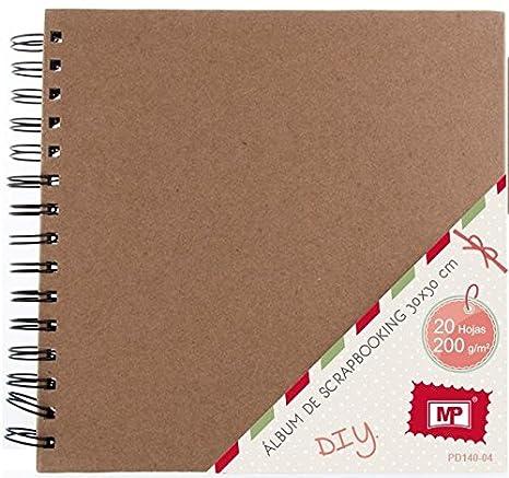 MP PD140-04 - Album para scrapbooking, 30 x 30 cm, 200 gr, color kraft: Amazon.es: Oficina y papelería