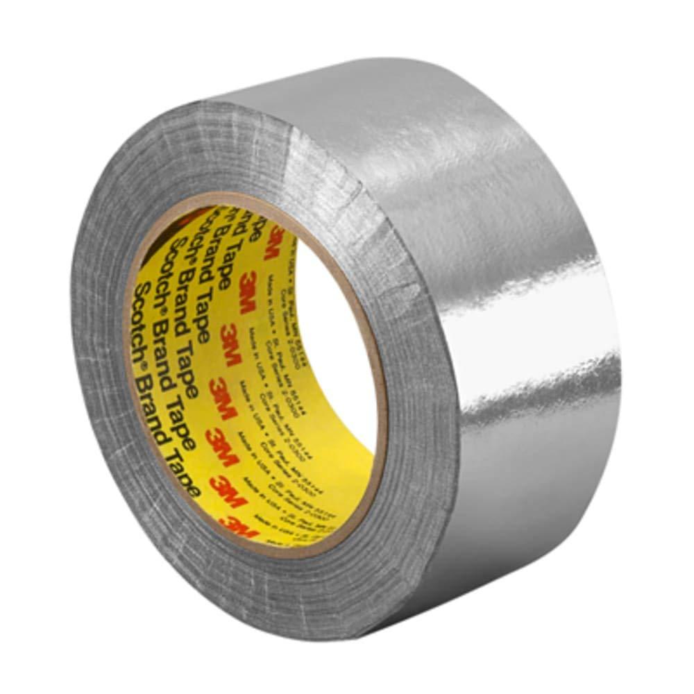 Alunimum Foil Glass Cloth; 7.3 mil; Silicone - 2in x 36yd Roll